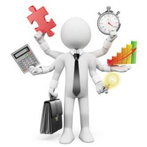 Fehér üzletember figura hat kezében tartja az üzletet
